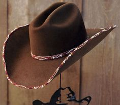 Chocolate Beaded hat from Shorty's Hattery