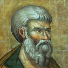 Byzantine Icons, Orthodox Icons, Vignettes, Painting, Christian Paintings, Fresco, Beards, Painting Art, Paintings