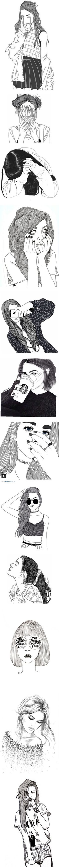 """drawings"" by bananafrog ❤ liked on Polyvore"