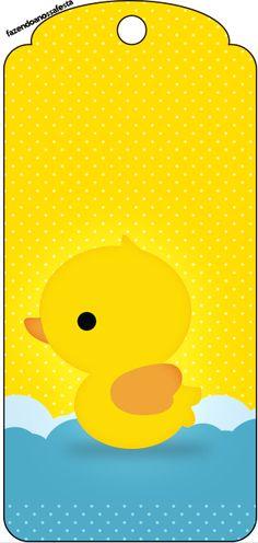 Tag Agradecimento Patinho Amarelo: