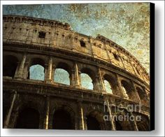 Colossale Edificio- The Colosseum, Rome, Italy - Fine Art Prints and Posters for Sale by The Singing Photographer - Micki Findlay. #rome  #wallart #walldecor #italy #travel #colosseum