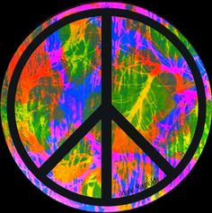 Another black peace sign on psychedelic colors! Love it as I love you Ash Bug!