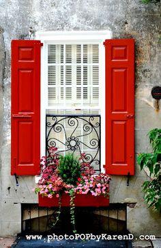like the wrought iron grill on window -Charleston, SC