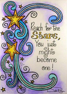 """Reach For The Stars"" by Debi Payne of Debi Payne Designs."