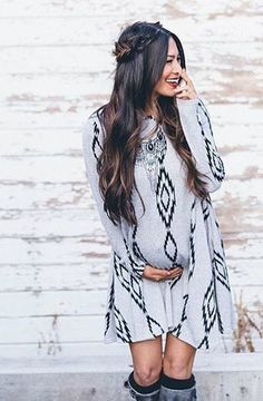 Shop playful printed maternity dresses available at affordable prices at PinkBlush!