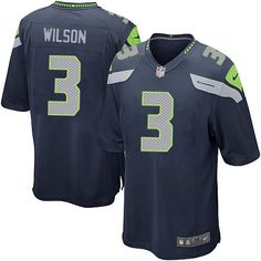 Order a new Game Men s Nike Seattle Seahawks  3 Russell Wilson Team Color  Blue NFL c2a38e5f7