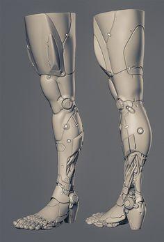 robot leg Splash Zone - Artwork, doodles n WIPs - Page 16 Zbrush, Cyberpunk Aesthetic, Arte Cyberpunk, Robot Concept Art, Armor Concept, Armas Wallpaper, Robot Leg, Splash Zone, Prosthetic Leg