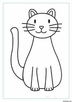 Printable Cat coloring pages for kids - Printable Coloring Pages For Kids