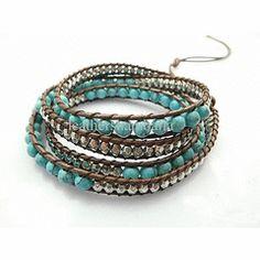 Friendship Wrap-around Blue Turquoise Bracelet for R270.00