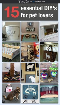 Awesome DIY gift ideas for pet lovers! 15 essential DIY's for pet lovers Dog Crafts, Animal Crafts, Animal Decor, Little Mac, Animal Projects, Diy Projects, Old Dogs, Pet Beds, Diy Stuffed Animals