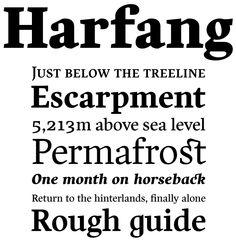 Harfang font sample