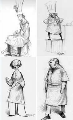 Ratatouille character designs by Carter Goodrich by rosa