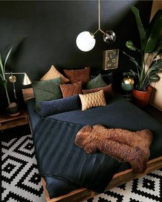 hippie bedroom decor 350928995967683075 - Life, Death, and Plants in Moody Bedroom « Home Decoration Source by monkeyte Design Loft, Loft Interior Design, Home Interior, Monochrome Interior, Modern Design, Decoration Bedroom, Bohemian Bedroom Decor, Industrial Bedroom Decor, Loft Bedroom Decor