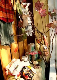 maya*made: recycled window display for fall