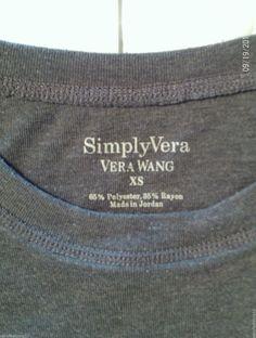 Simply Vera Vera Wang Gray Cap Sleeve T Shirt Top Shirt Size XS Juniors | eBay