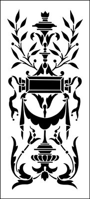 Panel No 1 stencil from The Stencil Library REGENCY AND EMPIRE range. Buy stencils online. Stencil code ER51.