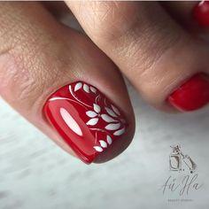 Red Toenails, Blue Nails, Toe Nail Designs, Simple Nail Designs, Pretty Toes, Pretty Nails, Feet Nails, Toe Nail Art, Manicure And Pedicure