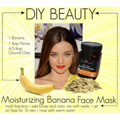 DIY banana moisturizing mask