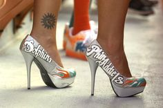Miami Dolphins High Heels | Cool! Miami Dolphin Shoes