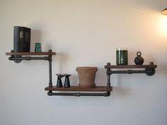 Industrial Plumbing Pipe Shelf - Three Tier Walnut. $219.00, via Etsy.