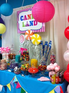 candy land inspired themed party for a sweet 16th by klm events rh pinterest com candyland party candy buffet candyland theme candy buffet