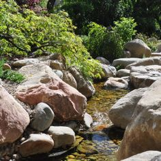 natural looking stream with big boulders