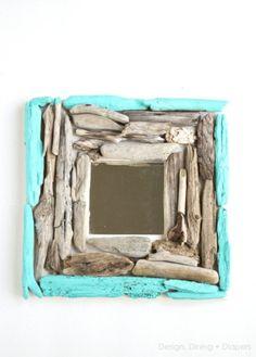 cadre bois flotté DIY