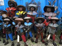 Due to high demand here is picture of our Recycled Metal Mariachis contact us at 713880 2105