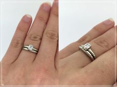 Mid Century Engagement Ring Emerald Cut by FergusonsFineJewelry