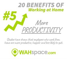 Did you know that working from home enhances your productivity? #workfromhome #workathome #productivity #wahspace
