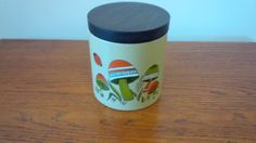 Ransburg Mushroom metal canister by Groovinonup on Etsy, $12.00