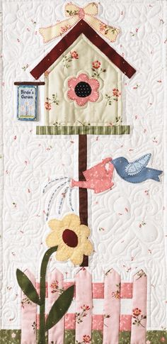 New Ideas For Patchwork Quilt Applique Link Quilting Projects, Quilting Designs, Sewing Projects, Small Quilts, Mini Quilts, Patch Quilt, Applique Quilts, Diy Quilt, Vogel Quilt