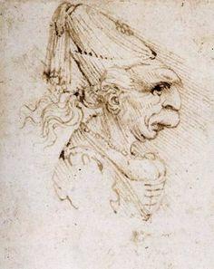 Caricature, 1500, Leonardo Da Vinci Size: 69x56 cm Medium: ink, paper