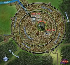 Ezran City Map by Mickezilla on DeviantArt Fantasy City Map, Fantasy Places, Fantasy World Map, Dnd World Map, Environment Map, Village Map, City Layout, Antique World Map, Antique Maps