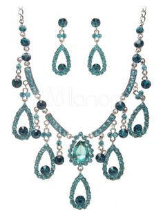 peacock jewelry for sale | Gorgeous Peacock Metal Jewelry Set For Wedding - Milanoo.com