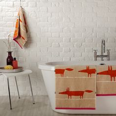 Obsessed with foxes - Scion Mr Fox Towels