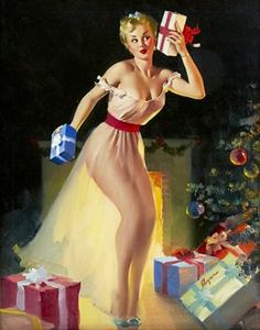 Happy Yule!!! i think the old time pin-ups are so cute...
