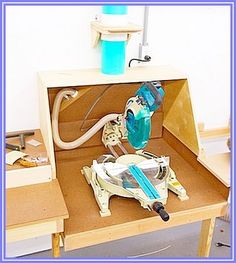 Miter Saw Dust Collection - by niftynoel @ LumberJocks.com ~ woodworking community