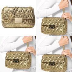 576968e97 Michael Kors Metallic Sloan Chain Gold Leather Shoulder Bag - Tradesy  Michael Kors Bag, Gold