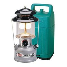 Coleman Lantern 2 Mantle, Dual Fuel with Case. Light up the campsite in any weather with the efficient Coleman Premium Dual Fuel Lantern with Case. Dual Fuel technology gives you the convenience of using Coleman Liquid Fuel. Gas Lanterns, Camping Lanterns, Camping Lights, Camping Lamp, Camping Equipment, Camping Gear, Campsite, Outdoor Camping, Backpacking