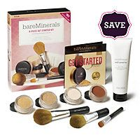 bare minerals customizble get started kit --- two foundations (a slightly darker shade for the summer), a bronzer, a mineral veil and three brushes + brush conditioner.  people will think you're born with it as the product is true to its name.