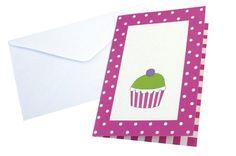Einladung Einladungskarten Kindergeburtstag cupcake pink 8 Stück