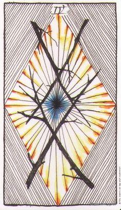 4 Wands - Wild Unknown Tarot - rozamira tarot