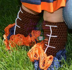 Leg warmers football legwarmers crochet by 2ndgenerationfibers