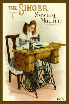 The Singer Sewing Machine ad