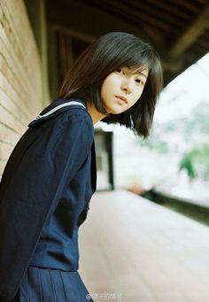 Beautiful Japanese Girl, Japanese Beauty, Asian Beauty, Cute Asian Girls, Cute Girls, Pretty Girls, Cute Kawaii Girl, School Uniform Girls, Japan Girl