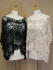 NEW STUNNING PLUS SIZE CROCHET WATERFALL CROP SHRUG - 2 COLOURS