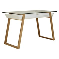 House by John Lewis Airframe Desk, Black