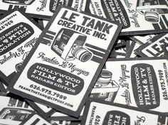 Custom Letterpress Business Card and Graphic by PRINTandGRAIN, $225.00
