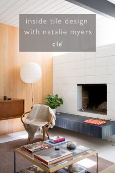 "In our ""clé conversations"" series, we recently sat down with Natalie Myers, the owner and design principal of Veneer Designs in Los Angeles. Natalie gave us a peek into what moves her as a designer, her mental inventory of the newest ideas, and why if ""every blogger and their babysitter"" is into a style, she wants nothing to do with it. #designideas #fireplaceideas #interiordesign #tiledesign"